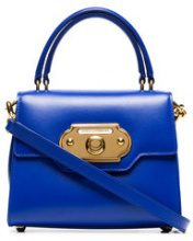 Dolce & Gabbana - blue Welcome small leather tote - women - Calf Leather - One Size - Blu