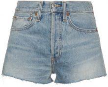 Re/Done - Shorts in denim a vita alta - women - Cotone - 26, 28, 29, 30 - Blu