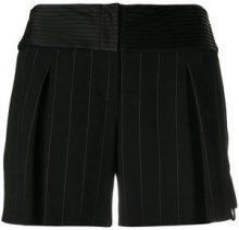 Giorgio Armani Vintage - pinstripe mini shorts - women - Acetate/Viscose/Cupro/Spandex/Elastane - 42 - Nero