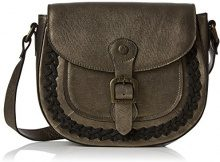 Fly London Zeek602fly - Borse a tracolla Donna, Brown (Bronze/black), 4x20x24 cm (W x H L)