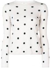 - Max Mara - polka dot sweater - women - cashmere/seta - XS - di colore bianco