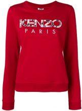 - Kenzo - Kenzo Paris embroidered sweatshirt - women - cotone/fibra sintetica - XL, S, L - di colore rosso