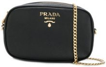 Prada - logo plaque belt bag - women - Leather - OS - Nero