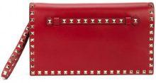 Valentino - Clutch 'Valentino Garavani Rockstud' - women - Leather/metal - One Size - Rosso