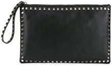 Valentino - Pochette Valentino Garavani 'Rockstud' - women - Cotone/Leather/metal - OS - Nero