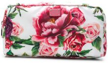 Dolce & Gabbana - peonie printed make-up bag - women - Polyamide - One Size - WHITE