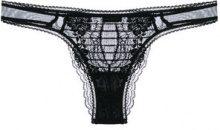 La Perla - Slip brasiliane 'Lapis Lace' - women - Spandex/Elastane/Polyamide/Cotone - 1, 2, 3, 4, 5 - Nero