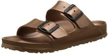 Birkenstock Arizona Eva, Sandali Punta Aperta Donna, Marrone (Metallic Copper), 39 EU