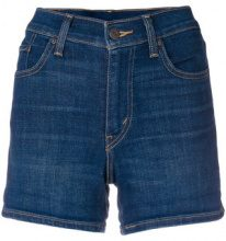 Levi's - high rise shorts - women - Cotone/Polyester/Spandex/Elastane - 25, 26, 27, 28, 29, 30, 32 - Blu