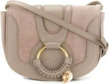 See By Chloé - Borsa a tracolla Hana - women - Calf Leather/Cotone - One Size - Color carne & neutri