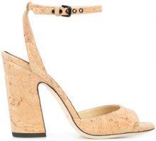 Jimmy Choo - Miranda heeled sandals - women - Acetate - 36, 36.5, 39, 39.5 - NUDE & NEUTRALS