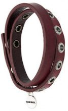 Diesel - wrapped style bracelet - women - Calf Leather - One Size - Rosso
