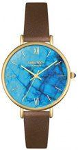 Lola Rose turchese orologio al quarzo con display analogico e cinturino in pelle marrone LR2024