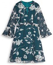 ESPRIT Collection 087eo1e018, Vestito Donna, Multicolore (Dark Teal Green 375), 38