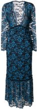 Ganni - Abito da sera - women - Polyamide/Viscose/Spandex/Elastane/Polyester - 42 - BLUE