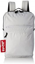 Levi's The Pack Big Tab - Borse a spalla Uomo, Bianco (Noir Regular White), 12x29x45 cm (W x H L)