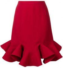 Valentino - ruffled skirt - women - Lana Vergine/Silk - 40, 42 - Rosso