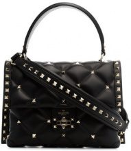Valentino - black candystud leather top handle bag - women - Leather - One Size - Nero