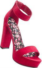 Sandalo con plateau (Rosso) - RAINBOW