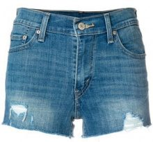 Levi's - high rise denim shorts - women - Cotone/Polyester/Spandex/Elastane - 25, 26, 27, 28, 29, 30, 32 - BLUE