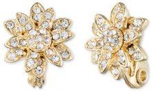 Anne Klein Button fiore oro e cristallo Clipped orecchini, base metal, colore: Gold, cod. 60411585-887