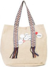 Dorothee Schumacher - pin embellished canvas tote bag - women - Cotone/Iuta - OS - BROWN