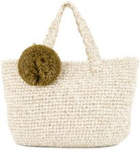 711 - Madame Lefranc beach bag - women - Straw/Lurex - OS - Color carne & neutri