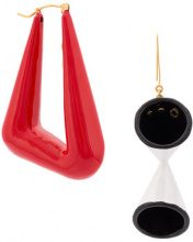 Stella McCartney - abstract shape earrings - women - Acetate - OS - Bianco