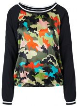 Marc Cain Sports HS 55.05 W53, Blusa Donna, Multicolore (Lawn 523), 42 (N2/42)