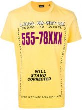 Diesel - T-shirt 'T-Diego-Di' - men - Cotone - XL, S, M - YELLOW & ORANGE