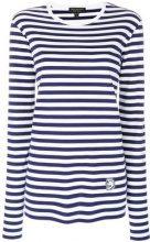Burberry - Maglia a righe 'Breton' - women - Cotone - S - WHITE