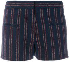 Carven - Shorts gessati - women - Cotone/Linen/Flax/Polyamide/Viscose - 36, 40 - Blu