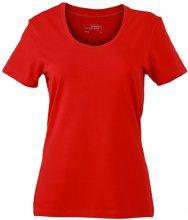 James & Nicholson T-Shirt Ladies Stretch Round, Camicia di maternità Donna, Rosso (Red), Small (Taglia Produttore: Small)