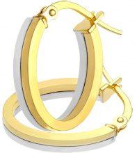 Citerna Orecchini a Cerchio da Donna, Oro Bicolore 375/1000, 9 Carati, Vetro