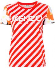 Kenzo - T-shirt a righe Paprika - women - Cotone - L - RED