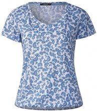 Cecil 312283, T-Shirt Donna, Multicolore (Deep Blue 30128), L