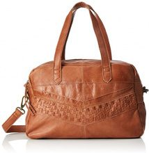 PIECES Pcjimini Leather Bag - Borsette da polso Donna, Braun (Mocca), 17x32x53 cm (B x H T)
