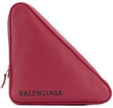 Balenciaga - triangle medium clutch bag - women - Leather - OS - Rosso