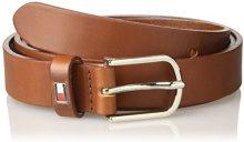 Tommy Hilfiger New TH Flag Belt 2.5, Cintura Donna, Marrone (Dark Tan 901), 80