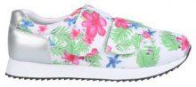 Sneakers con plateau e motivo floreale