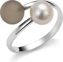Adriana dreambase-anello 925 argento rodiato luenette marrone Gelato acqua dolce-acqua dolce taglia 52 (16,6) Regolabile - AGR5-52 gr.