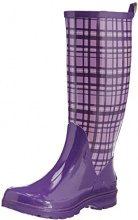 Playshoes Trendiger Damen Gummistiefel Karo, Stivaletti Donna, Viola (Violett (Flieder 10), 40 EU