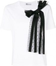 Red Valentino - side bow embellished blouse - women - Cotone/Polyamide - XS, S, M, L - Bianco