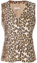 Alberto Biani - Top leopardato - women - Silk/Acetate/Viscose - 38, 44 - Marrone