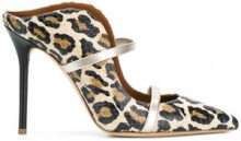 Malone Souliers - Mules leopardate 'Maureen' - women - Calf Leather/Leather - 37, 37.5, 38, 39, 36, 38.5, 39.5 - Marrone