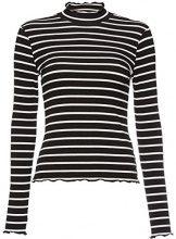 FIND 70174 magliette donna, Multicolore (Black/white), 44 (Taglia Produttore: Medium)