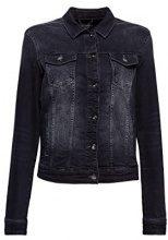 edc by Esprit 028cc1g011, Giacca in Jeans Donna, Nero (Black Dark Wash 911), Small
