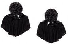 Sachin & Babi - Mini Cha Cha tassel earrings - women - Silk - OS - Nero