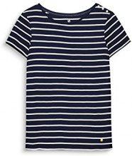 ESPRIT 998ee1k803, T-Shirt Donna, Blu (Navy 400), Large