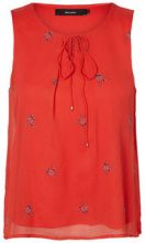 VERO MODA Flower Sleeveless Top Women Red